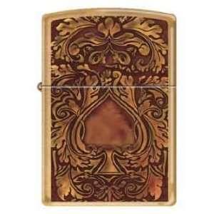 Zippo Custom Lighter   Golden Spade Card Gamble RARE