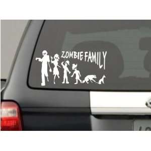 Zombie Stick Figure Family Decal Zombies Window Funny