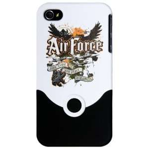 iPhone 4 or 4S Slider Case White Air Force US Grunge Any
