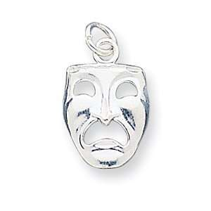 Sterling Silver Tragedy Mask Charm Arts, Crafts & Sewing