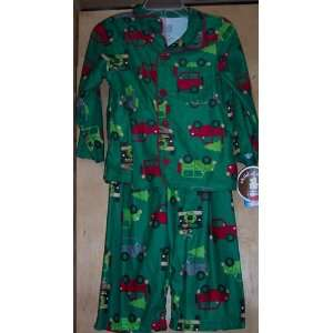 Child of Mine Green Car Pajams Size 24 Mo Baby
