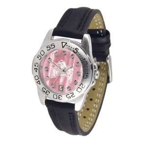 Arkansas Razorbacks NCAA Mother of Pearl Sport Ladies Watch (Leather