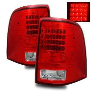 02 04 Ford Explorer Red/Clear LED Tail Lights Automotive