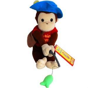 Gone Fishin   Curious George Monkey Bean Bag Plush Toy