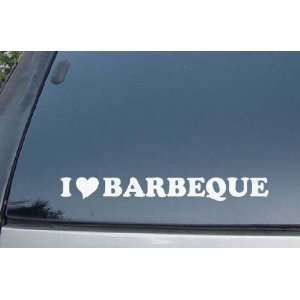 I Love Barbeque Vinyl Decal Stickers