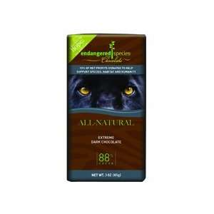 Endangered Species Ext Dark Choc Bar Black Panther ( 12x3 OZ)