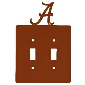 Alabama Crimson Tide Double Toggle Metal Switch Plate Cover, Set of 2