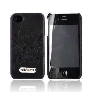 OEM ED Hardy iPhone 4 Leather Hard Case BLACK LOVE KILL Electronics