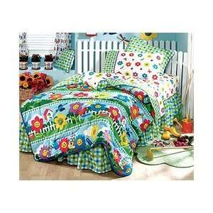 KIDS Happy FLower   5pc BED IN BAG   Full/Double Size Home & Kitchen