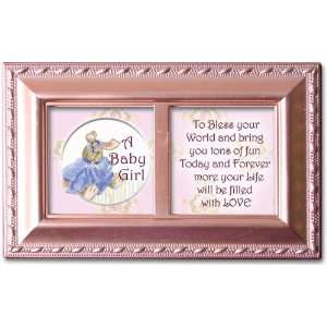 Cottage Garden Petite Music Box   A Baby Girl Plays Jesus Loves Me