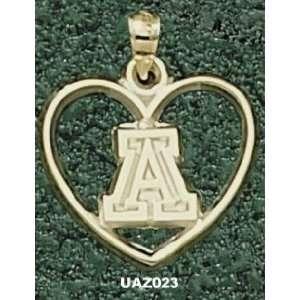 Univ Of Arizona A Heart Charm/Pendant
