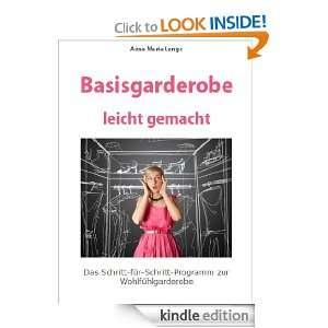 Basisgarderobe leicht gemacht (German Edition) Anna Maria Lange