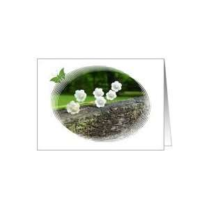 Lily of the Valley butterfly blank note card Card Health