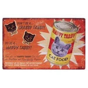 Happy Tabby   Cat Food Advertising Tin OW26690 Pet