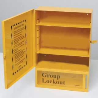 High Visibility Wall Mount Combined Lockout/Lock Box Station (Empty)