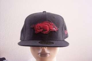 New Era 59fifty Arkansas Razorbacks Hogs Crimson Black Baseball Hat