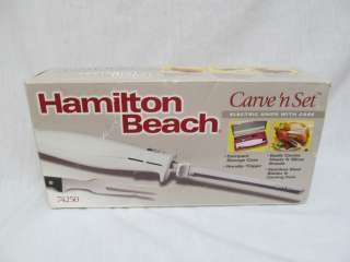 BOX Hamilton Beach 74250 Carve n Set Electric Knife with Case