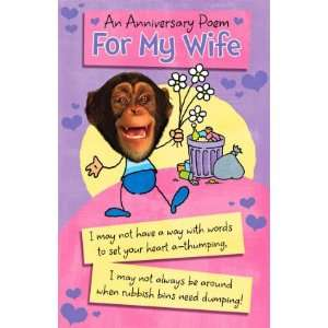 Humorous Wife Wedding Anniversary Card with a Poem: .co.uk