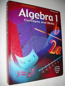 McDougal Littell Algebra 1 Mathematics Math 9th grade 9 (9780618163830