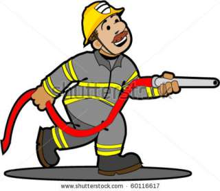 Cartoon Fireman. Stock Vector 60116617  Shutterstock