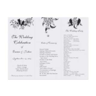 Flowering Branch Vintage Love Bird Wedding Program Custom Invite from