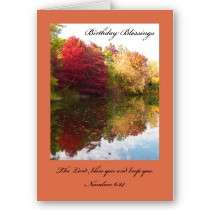 Christian Birthday Card    The Lord Bless You by KathyHenis