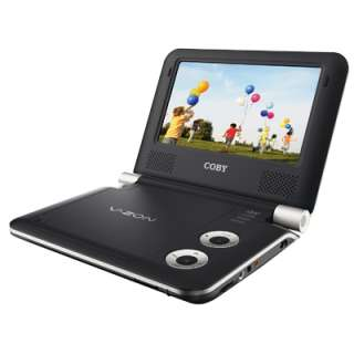 Coby TFDVD7009 7 Inch Portable DVD/CD/MP3 Player (Black)   Brand New