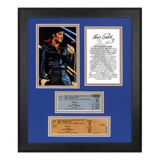 Elvis Presley 1968 Special 40th Ann. Framed Photo & Ticket   Mounted