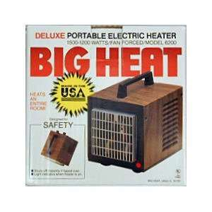 Deluxe Portable Electric Heater 1200/1500 Watts