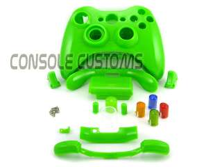 Xbox 360 GLOSS LIME GREEN Full Controller shell case housing with