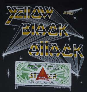 VTG STRYPER YELLOW & BLACK ATTACK TOUR SHIRT 1985 S