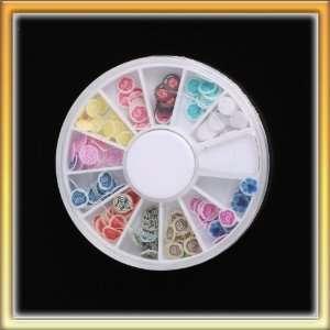 Popular 12 Color 120pcs Flower Design Nail Art Sticker Wheel HOT B0004
