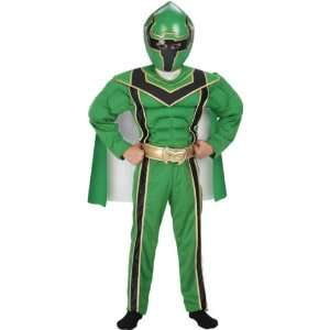 Childs Deluxe Green Power Ranger Costume (Small): Toys & Games
