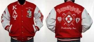 KAPPA ALPHA PSI Varisty Jacket Coat S 6X RED WHITE NWT