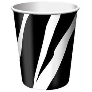 Animal Print Party Supplies ZEBRA HOT / COLD PAPER CUPS