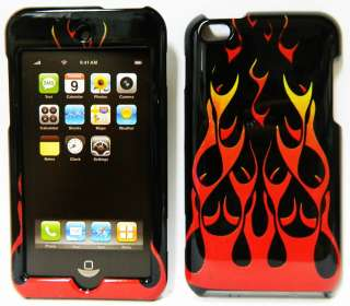 APPLE Ipod Touch 4TH GEN Hard SnapOn Case Cover BLACK YELLOW RED FIRE