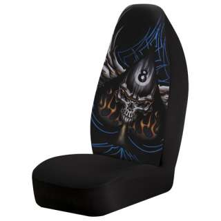 Auto Expressions Spade/Skull Bucket Seat Cover, Black