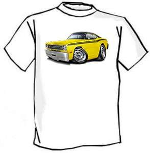 1970 74 Plymouth Duster Muscle Car Cartoon Tshirt FREE