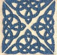 Celtic knot hand towel Irish Decor Celtic square