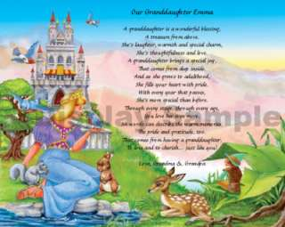 Princess Gift For Granddaughter Personalized Poem