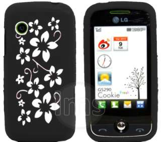 London Magic Store   BLACK SILICONE FLORA CASE FOR LG COOKIE FRESH