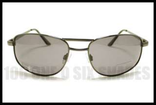 POLARIZED Sunglasses No Glare Aviator Style GUN Metal Frame, Spring