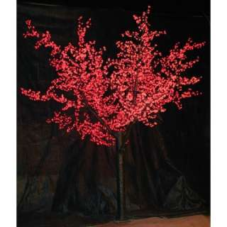 12 ft. Pre lit LED Cherry Blossom Tree   Red Christmas Decor