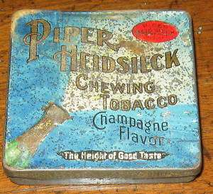 Old PIPER HEIDSIECK Chewing Tobacco Tin~ANTIQUE