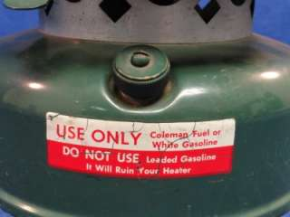 Vintage 1967 Coleman 511A Camping Catalytic Heater J46