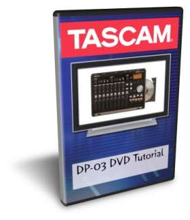 Tascam DP 03 DVD Video Tutorial Manual Help