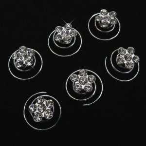 Bridal Flower Crystal Twister Hair Pin Beauty