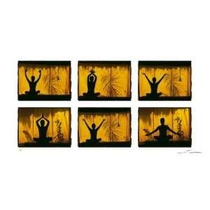 Positions de Yoga by Olivier Fllmi. Size 31.88 X 15.63 Art