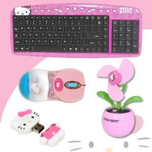 Hello Kitty USB Keyboard with Hot Keys #90309K (Pink) + Hello Kitty