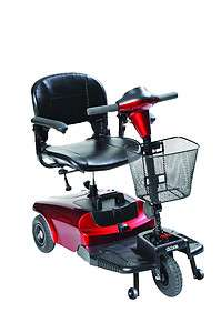 Bobcat Red 3 Wheel Electric Compact Mobility Power Scooter Wheelchair